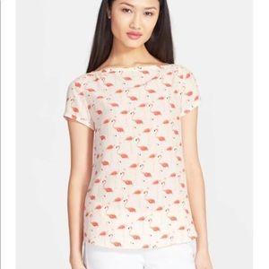 NEW Kate Spade Flamingo Boatneck Top | Size 2